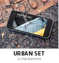 urban mockup set