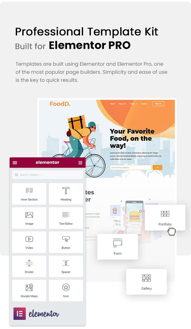 FoodDelivery - Local Business Elementor Template Kit by PuzzlerBox