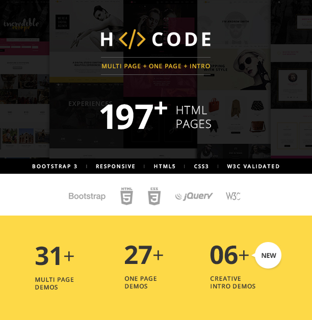 H-Code Multipurpose OnePage & Multi Page Template - 3