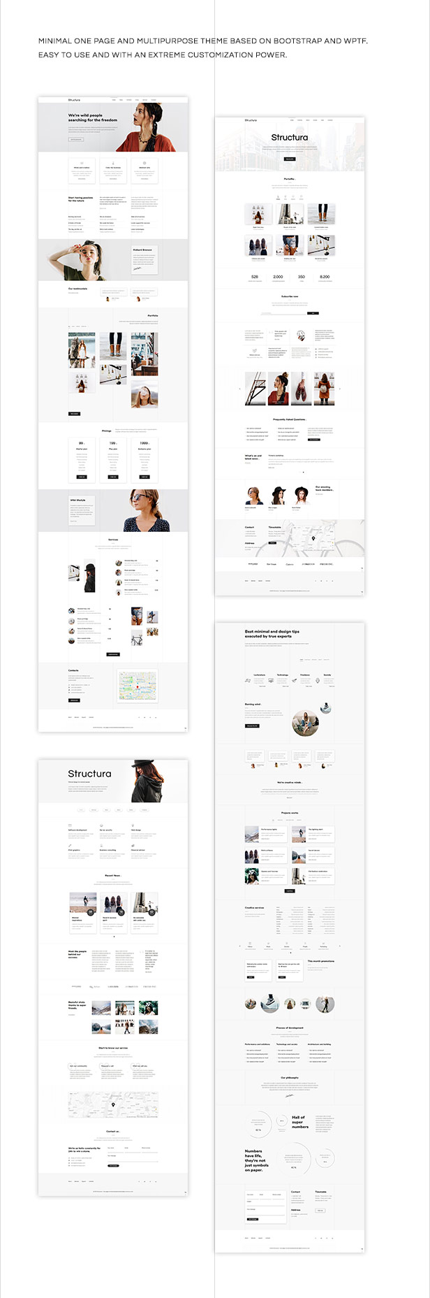 Structura - One Page And Multipurpose Minimal Theme - 1