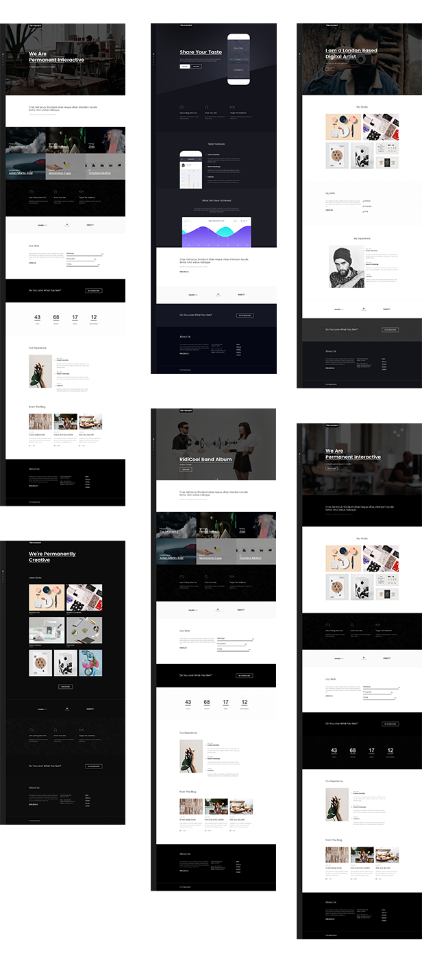 Permanent - Digital Agency / Portfolio Template - 2