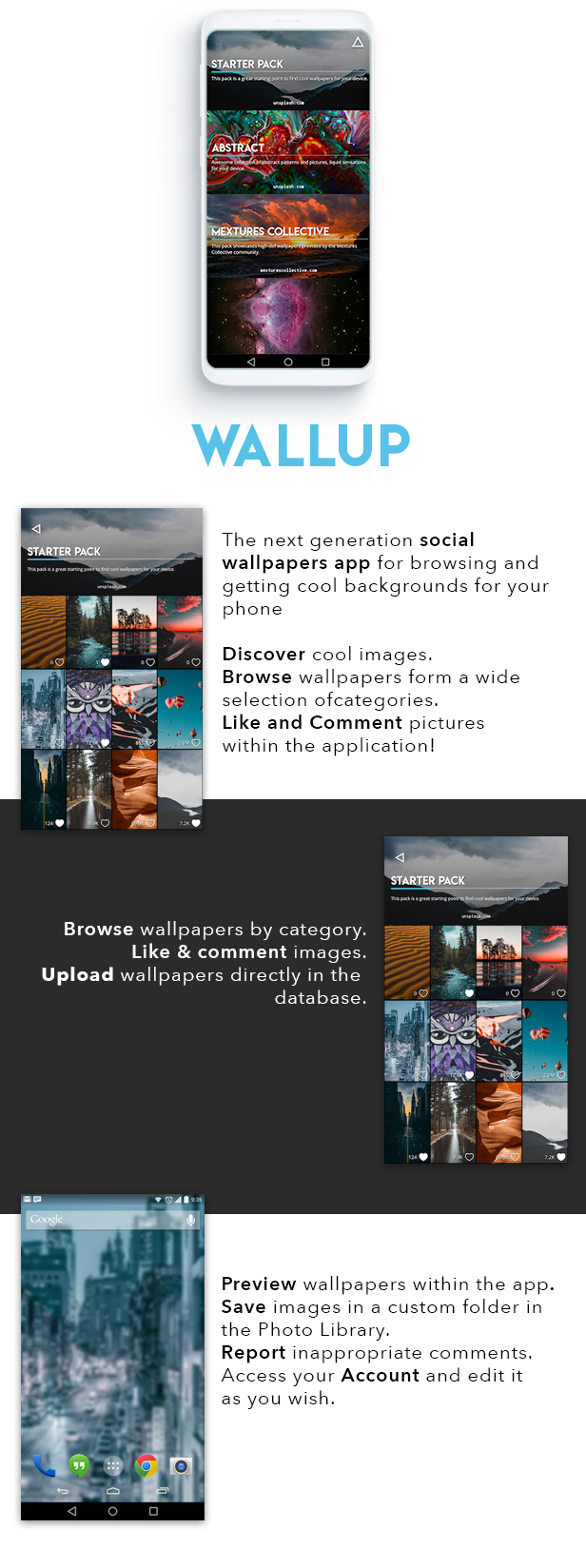 Wallup Android Social Wallpapers Application By Xscoder Codecanyon