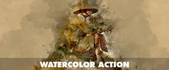Watercolor Photoshop Action - 64