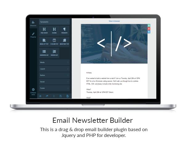 drag drop email template builder for php. Black Bedroom Furniture Sets. Home Design Ideas