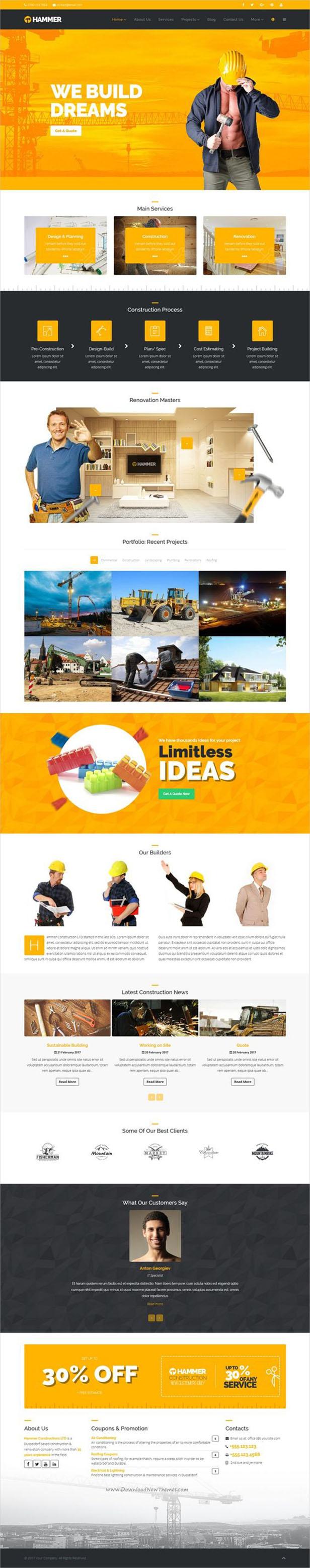 Hammer - Multi-Trade, Construction Business WordPress Theme - 11