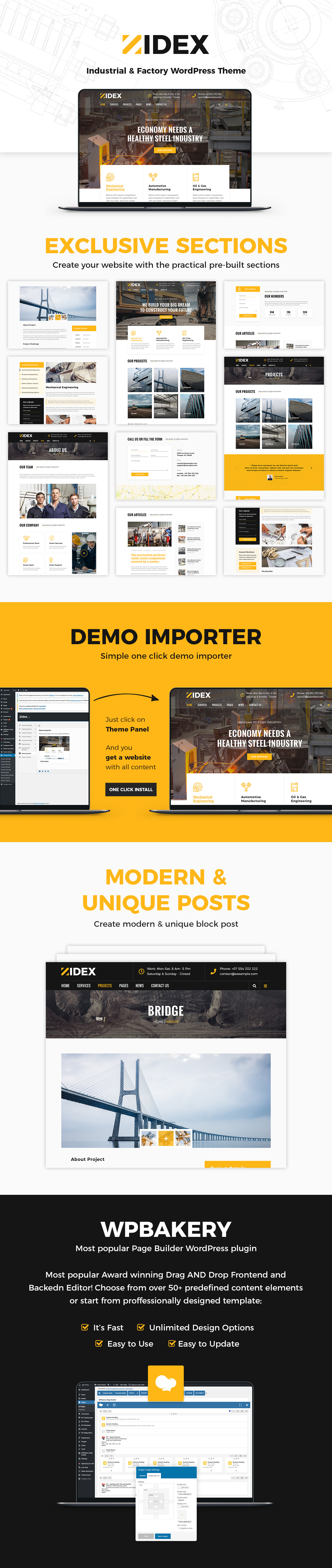 Zidex - Industrial & Factory WordPress Theme - 1