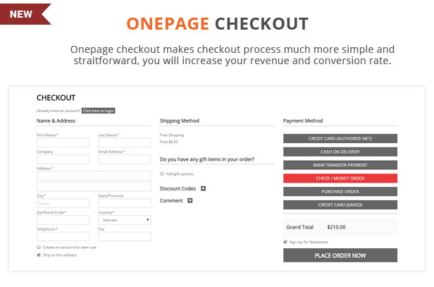 StoBok - Onepage checkout