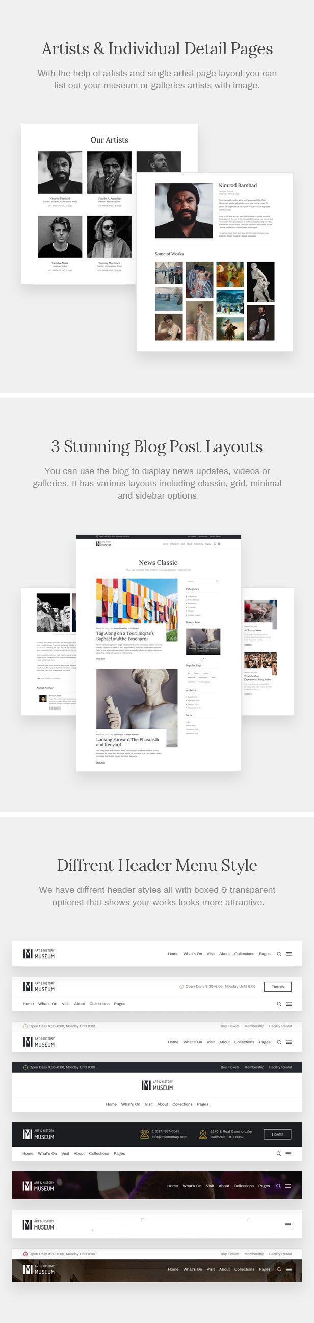 Muzze - Museum Art Gallery Exhibition WordPress Theme - 7