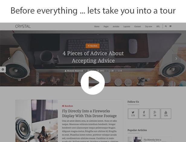 Crystal   Personal Blog WordPress Theme - 2
