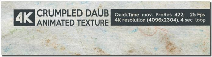Crumpled Daub Animated Texture