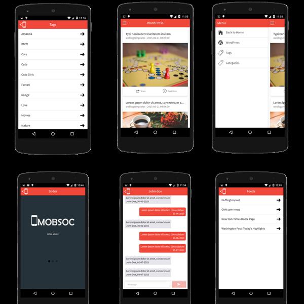 MobSocial Ionic Cordova Phonegap Hybrid App Template And WordPress - Phonegap templates