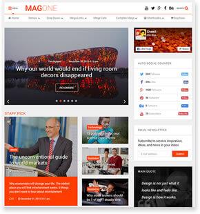 MagOne-响应式新闻和杂志博客模板[更至v7.3]插图2