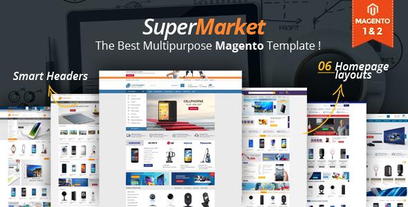 Supermarket - Responsive Magento 1 & 2 Theme - Magento eCommerce