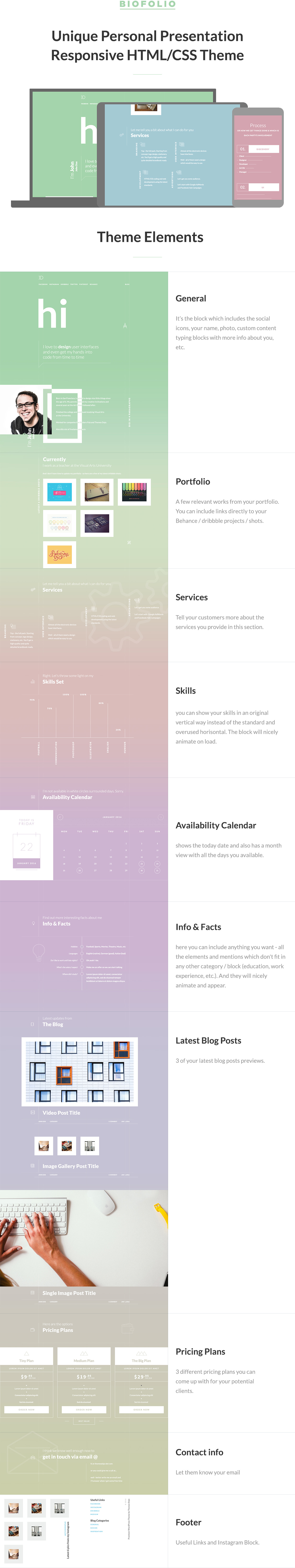 Biofolio resume portfolio htmlcss template by themes dojo all these bundled in a beautifully crafted htmlcss theme with nice typography and effects on a changing pastel colored gradient background saigontimesfo