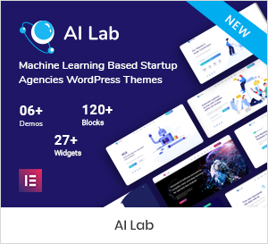 Machine Learning WordPress Theme