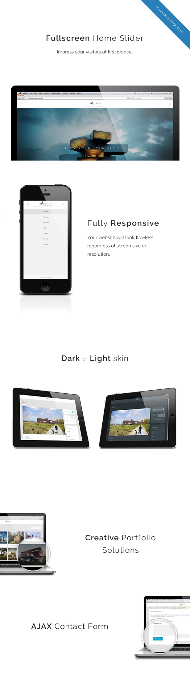 Rayleigh - A Responsive Minimal Architect Template - 1