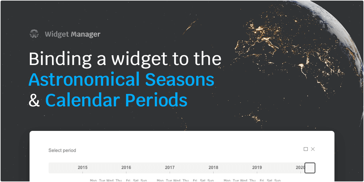 Binding a widget to the Astronomical Seasons & Calendar Periods