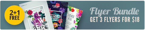 Floral Flyer Bundle