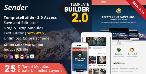Multimail | Responsive Email Template Set + Builder Online - 19