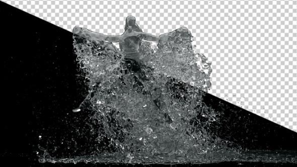 Water Drop Splash Logo - 82