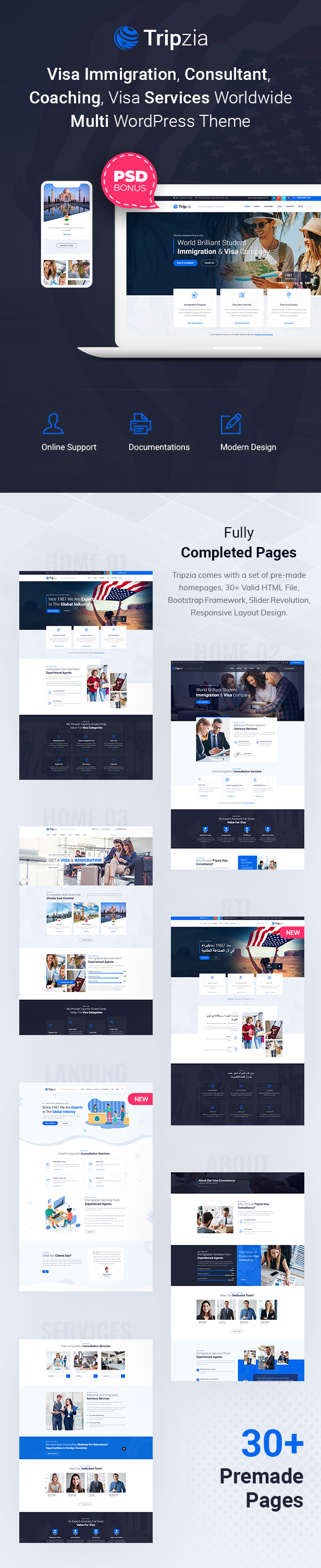 Immigration Consulting WordPress Theme