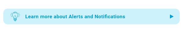 Novo recurso - Alertas e notificações no aplicativo
