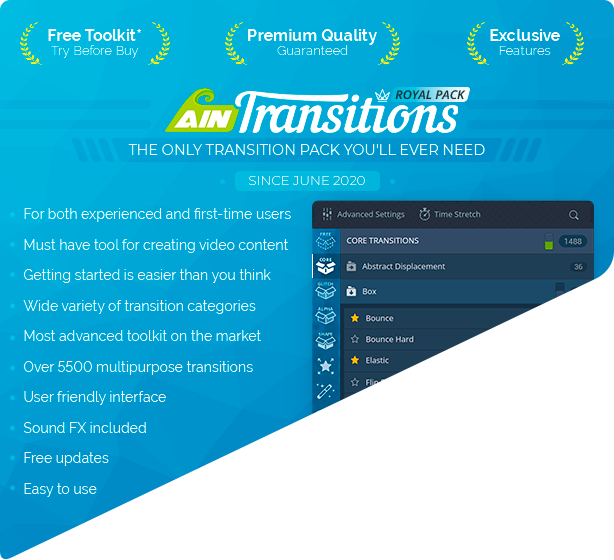 AinTransitions   Ultimate Multipurpose Transitions Pack - 10