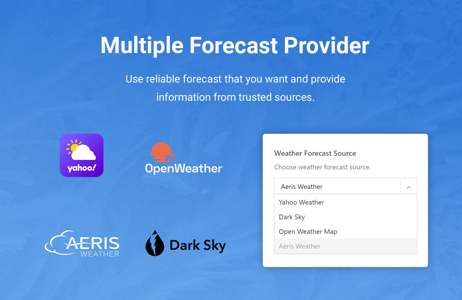 Jeg Weather Forecast WordPress Plugin - Add Ons for Elementor and WPBakery Page Builder - 1