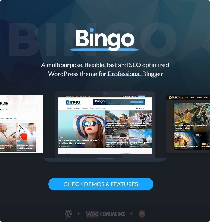 Bingo - Multi-Purpose Newspaper & Magazine Theme - 1