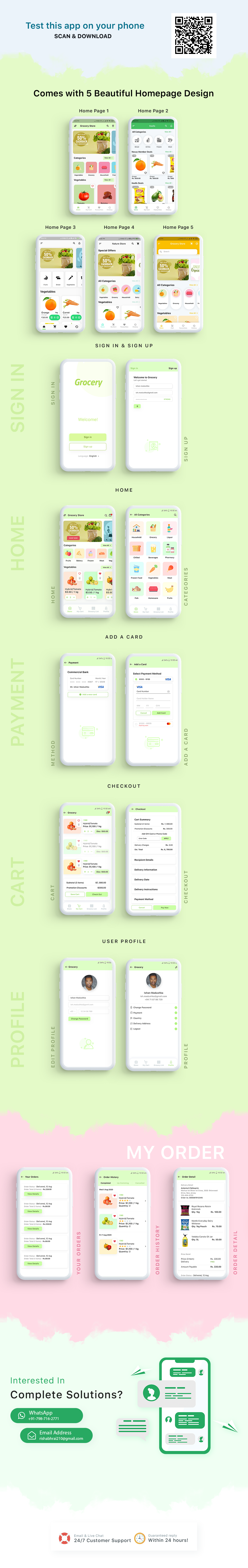 Grocery App Flutter with Admin Panel (Backend) - Foods and Pharmacy Store - 1