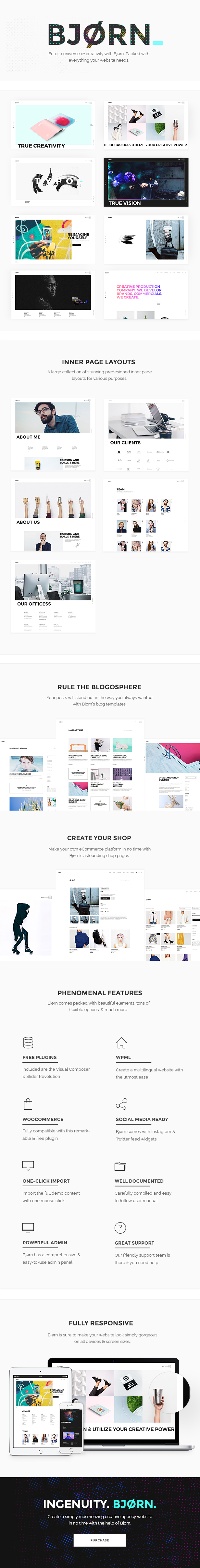 Bjorn - A Multi-Concept Theme for Freelancers and Creative Agencies - 1