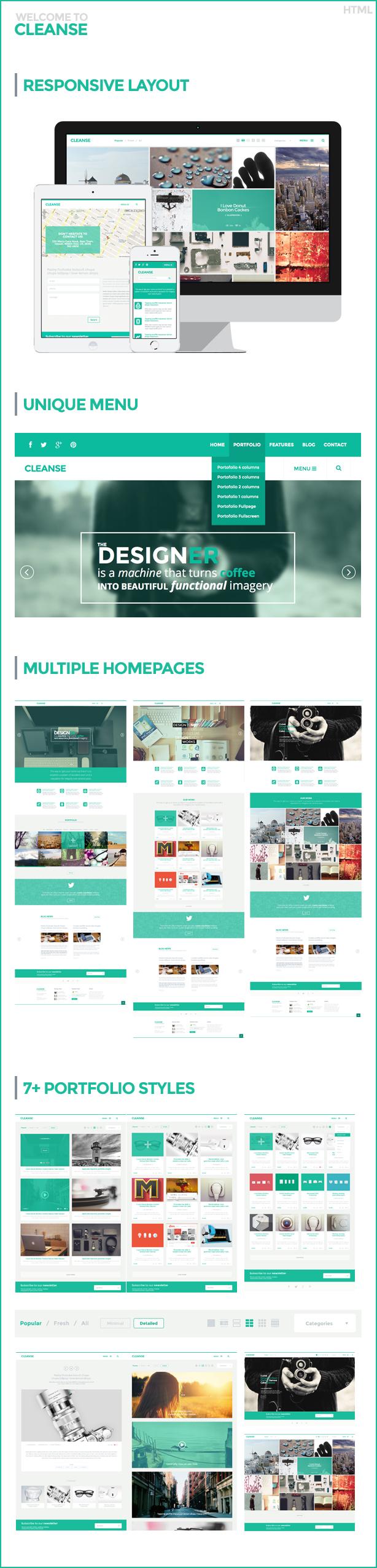 Cleanse - Minimal Portfolio HTML Template - 7