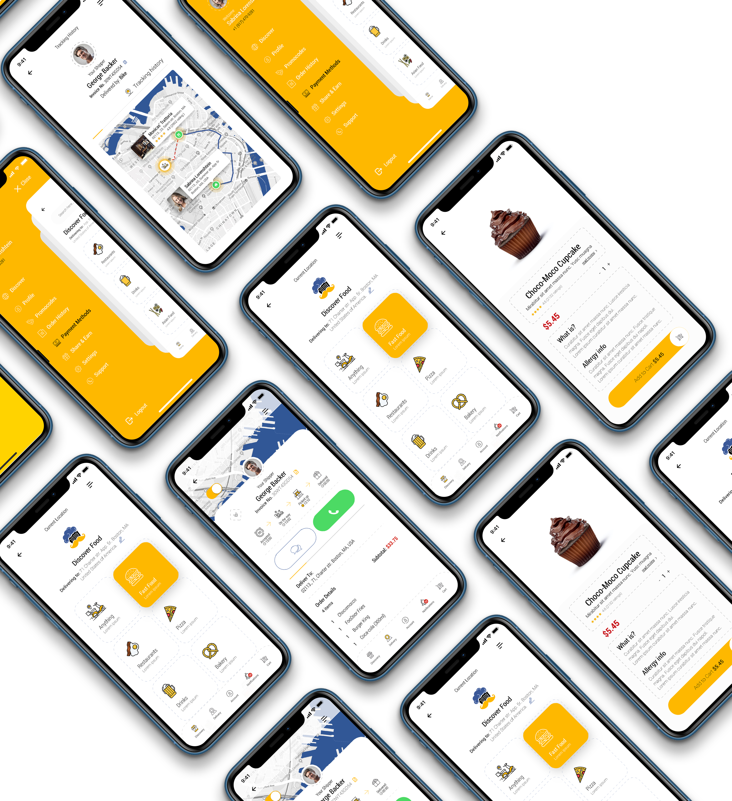 Dobule Food Delivery Ui Kit For Mobile App By Meconata Themeforest