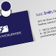 Leather Style Business Card - 16