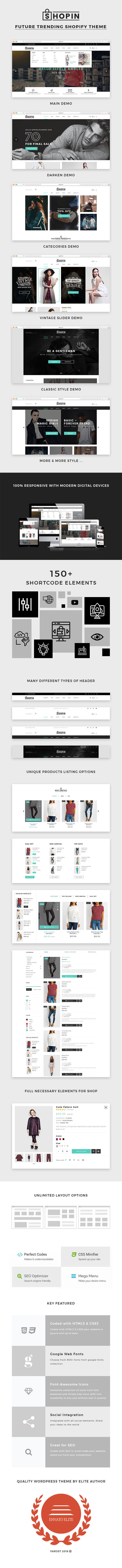 Shopin - Mutilpurpose eCommerce Shopify Theme