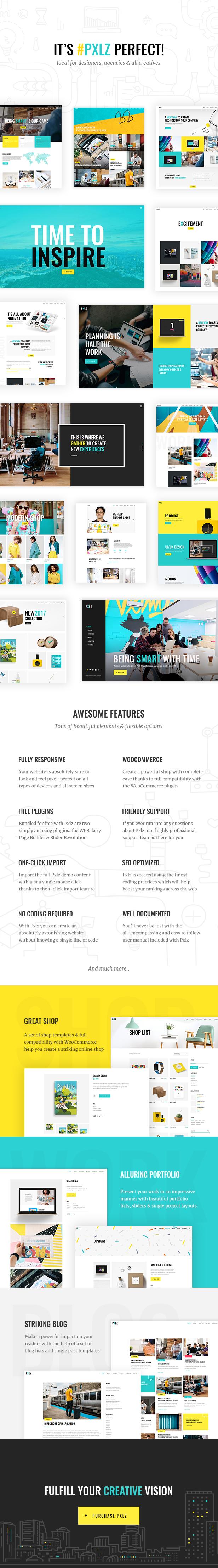 Pxlz - Creative Design Agency Theme - 1