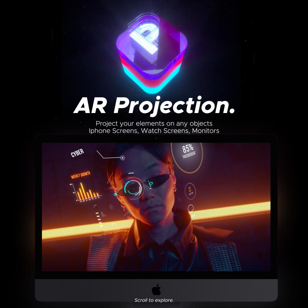 AE脚本-500多个人工智能高科技科幻HUD元素RGB光束烟雾描边效果AR动画工具包 AR Tools for Win/Mac破解版 V3插图17