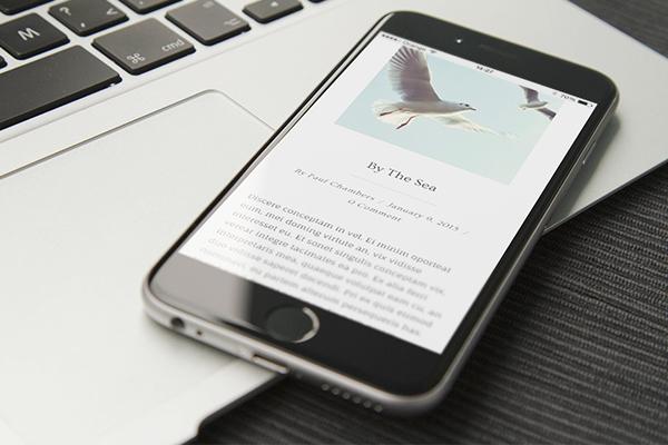 Calmer theme on iPhone