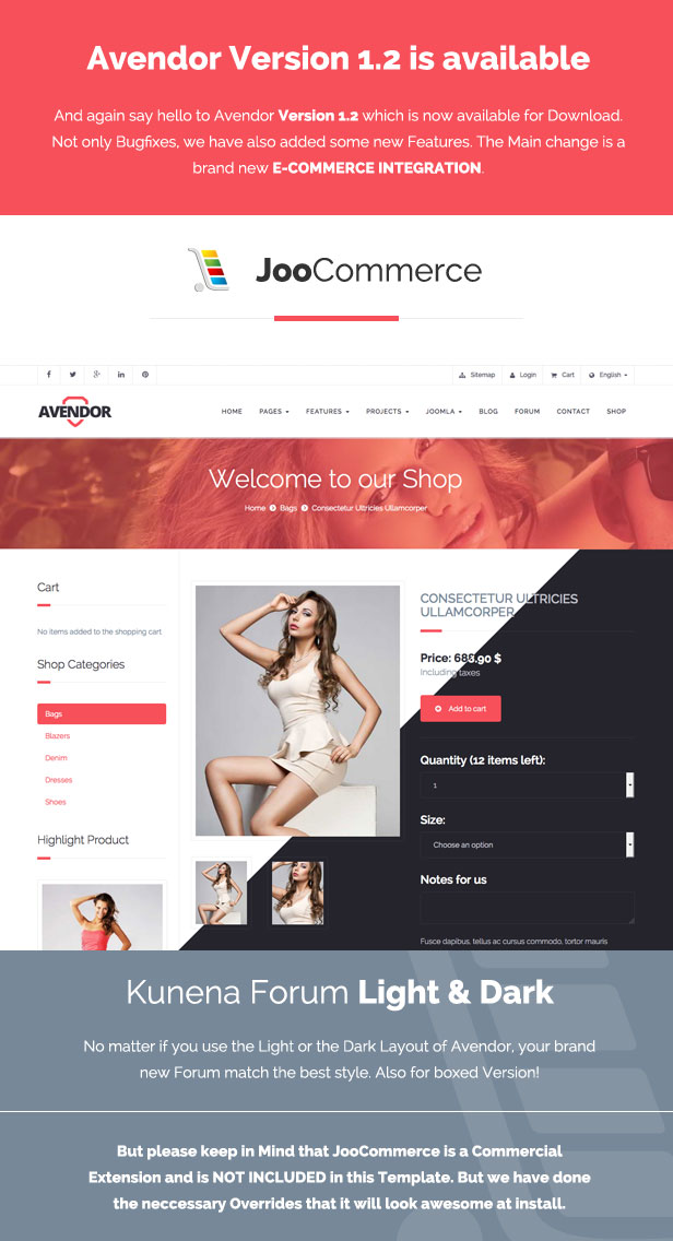 AVENDOR - Responsive Multi-purpose Joomla Template - 1