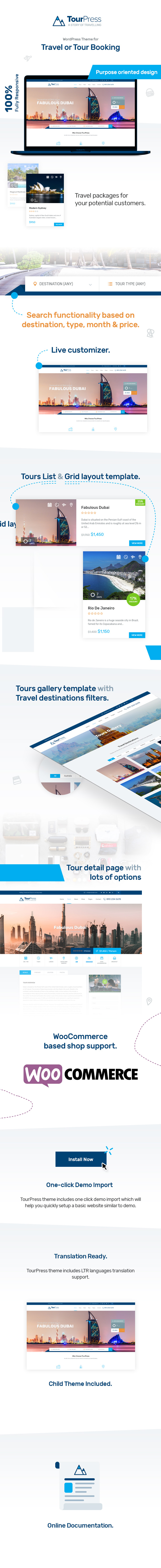 TourPress - WordPress Theme for Travel or Tour Booking