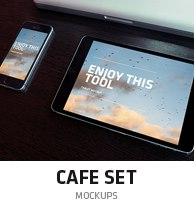 cafe mockup set