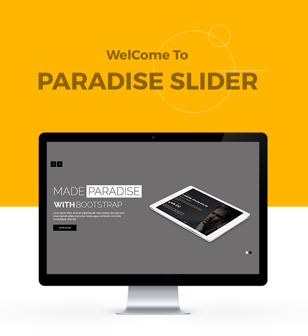 welcome to paradise slider