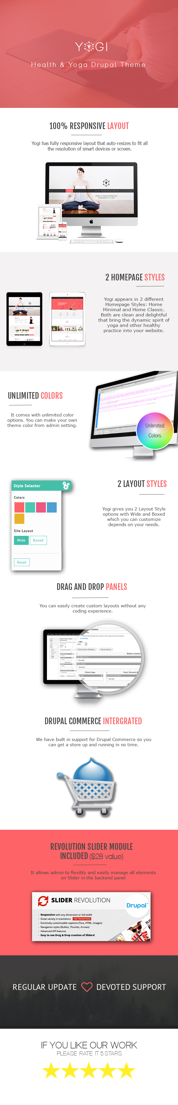 yogi drupal theme features