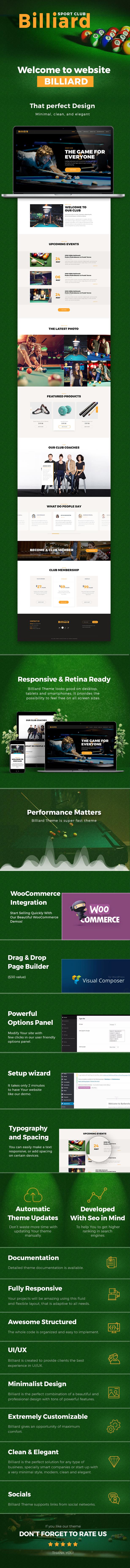 Billiard - Creative Sporting  WordPress Theme - 1