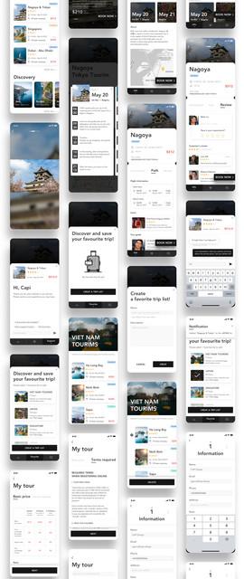 LiTour - Booking App UI Kit by Capi_Creative_Design