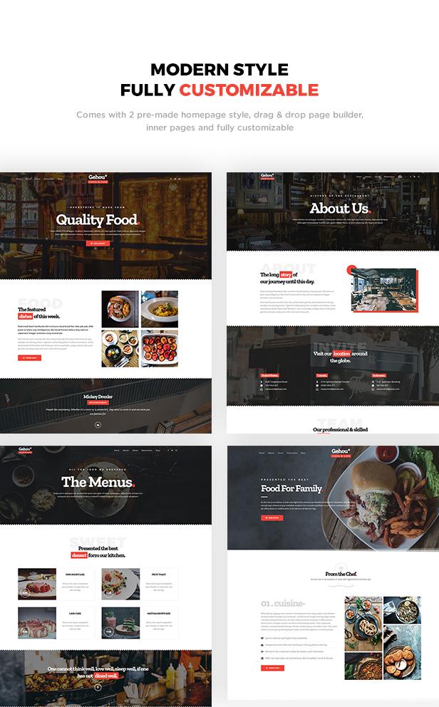 Gehou - A Modern Restaurant & Cafe Theme - 1