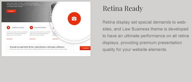 Retina Ready Lawyer Theme
