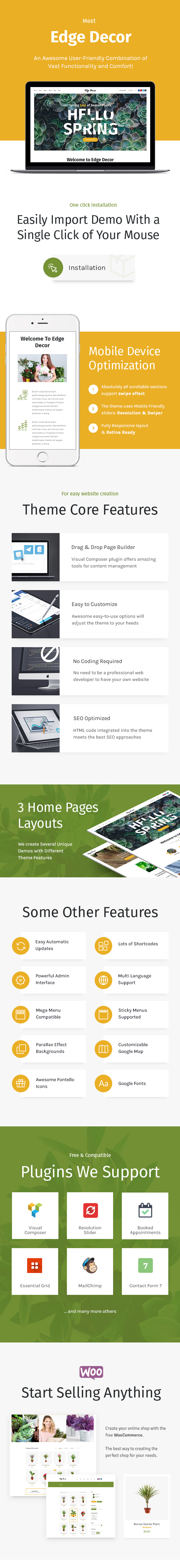 Edge Decor | A Modern Gardening & Landscaping WordPress Theme - 2