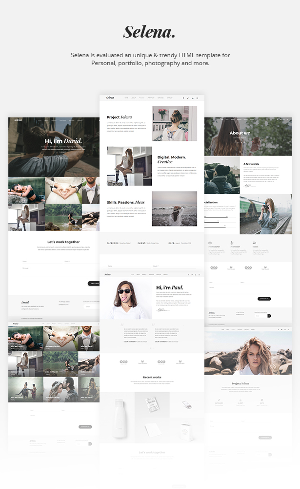Selena. - Minimal Portfolio & Personal Template - 5