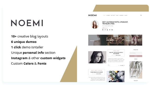 Noemi - Pure & Simple WordPress Blog